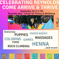 Celebrating Reynolds: Come Arrive and Thrive
