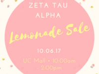 Zeta Tau Alpha Think Pink Lemonade Sale