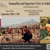 Inequality and Agrarian Crisis in India - A talk by P. Sainath
