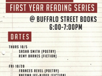 Fall 2017 First Year MFA Reading Series