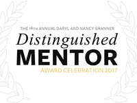 2017 Distinguished Mentor Award Celebration and Lecture