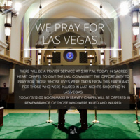Memorial Prayer Service in Remembrance of the Victims of the Las Vegas Shooting
