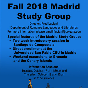 Fall 2018 Madrid Study Group Info Session