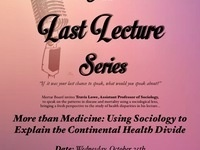 """Last Lecture: """"More than Medicine"""" hosted by TU Mortar Board"""