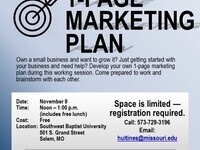 1-Page Marketing Plan Lunch & Learn