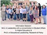 Information Session: MA SAHE and PhD Educational Leadership, Research, and Policy