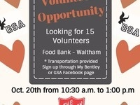 Volunteer Opportunity: Time to give back!