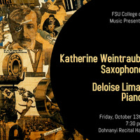 Faculty Recital - Katherine Weintraub, saxophone; Deloise Lima, piano