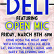 Open Mic Night at the Deli Shabbat