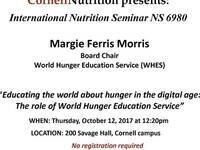 Educating the world about hunger in the digital age