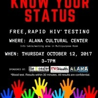 """Know Your Status!"" Free HIV Testing"