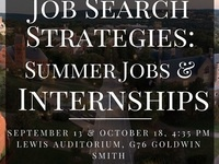 Job Search Strategies: Summer Jobs and Internships