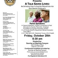 An Introduction to Suicide Prevention for our Senior Community