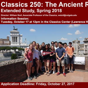 Spring 2018 Rome Extended Study Info Session