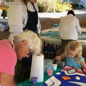 """Community Paint Party for Collaborative Mural """"Transforming Perspectives"""""""