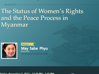 The Status of Women's Rights and the Peace Process in Myanmar