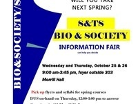S&TS and Biology & Society Information Fair