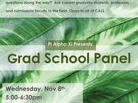 Plant Sciences Grad School Panel