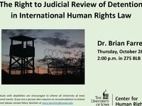 The Right to Judicial Review of Detention in International Human Rights Law