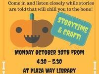 Halloween Story Time & Craft @ Plaza Way Library