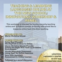 Teaching & Learning Languages Online at The New School: Innovations Panel & Workshop