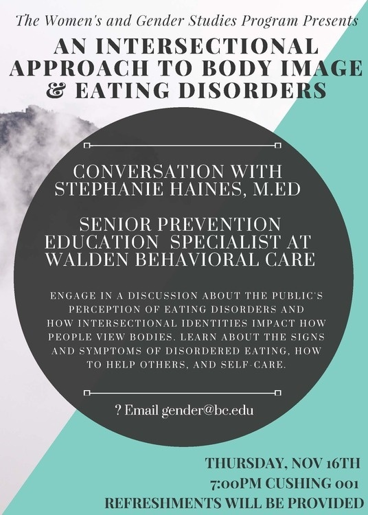 An Intersectional Approach to talking about Body Image & Eating Disorders