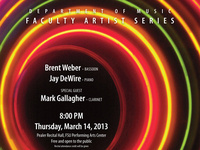 Faculty Artist Series: Weber, bassoon, & DeWire, Piano