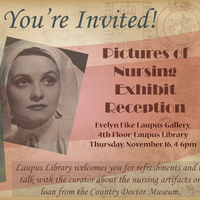 Pictures of Nursing Exhibit Reception