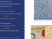 Art Exhibition and Artist Reception at the Tatkon Center for First-Year Students