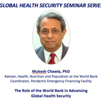 Global Health Security Seminar Series: the Role of the World Bank in Advancing Global Health Security