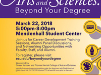 The Arts and Sciences: Beyond your Degree