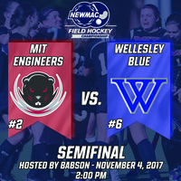 Field Hockey NEWMAC Tournament: MIT vs. Wellesley at Babson