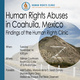 """Presentation of report """"Control... Over the Entire State of Coahuila, an analysis of testimonies in trials against Zetas members in Texas"""""""