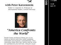 "Conversation at Keeton: Peter Katzenstein: ""America Confronts the World"""