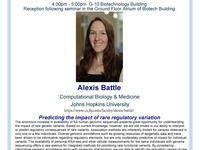 "3CPG Seminar with Alexis Battle ""Predicting the impact of rare regulatory variation"""