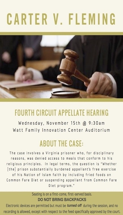 Fourth Circuit Appellate Hearing - Carter V. Fleming