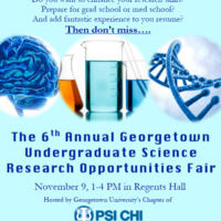 6th Annual Undergraduate Science Research Opportunities Fair