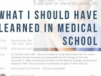 What I Should Have Learned in Medical School' with Dr. David Levine, MD