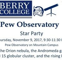 Star Party at Pew Observatory