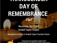 International Transgender Day of Remembrance Vigil