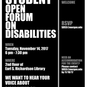 Student Open Forum on Disabilities