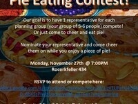 Pie eating Meet Up for Mi Comunidad!