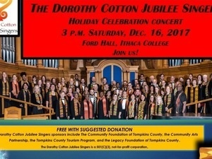 Dorothy Cotton Jubilee Singers Concert Saturday, 3 p.m., Dec. 16 at IC