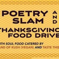Poetry Open Mic & Thanksgiving Canned Food Drive