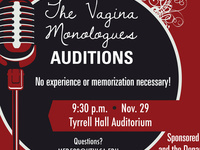The Vagina Monologues: Auditions