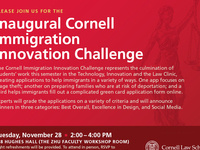 Inaugural Cornell Immigration Innovation Challenge