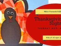 Thanksgiving Craft Night for Children @ Milton Freewater Public Library