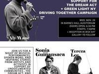 Performance for Change: Support for the Dream Act + the Green Light NY Campaign