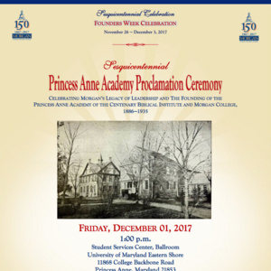 Sesquicentennial Princess Anne Academy Proclamation Ceremony