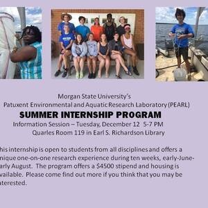 PEARL Summer Internship Information Session